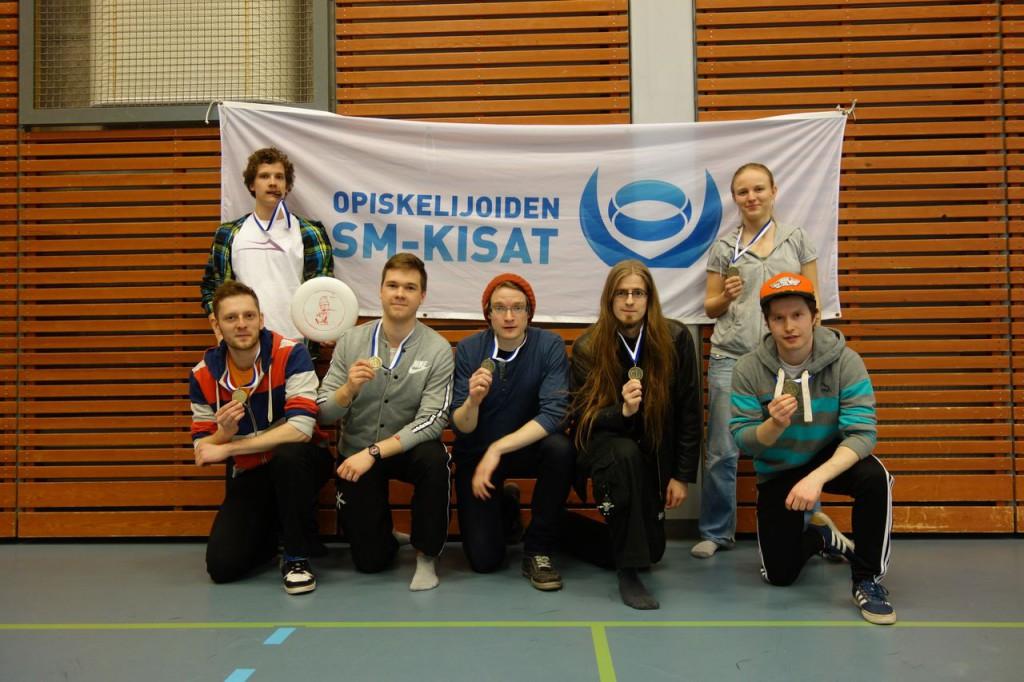 Jere Uljas (vasemmalla), Juho Rajala, Samppa Harhala, Aleksi Nuora, Juha Julkunen, Juho Tuomisto, Getten Haas