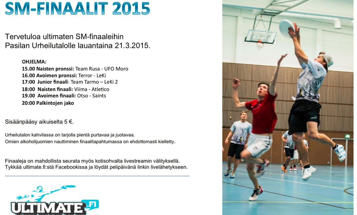 Ultimaten SM-finaalit Helsingissä